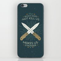 nietzsche iPhone & iPod Skins featuring That which does not kill us makes us stronger by Beardy Graphics