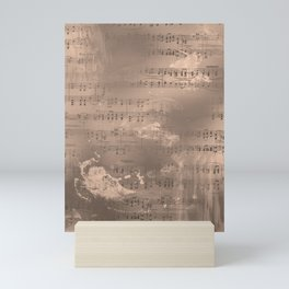 Sheet Music - Mixed Media Partiture #2 Mini Art Print