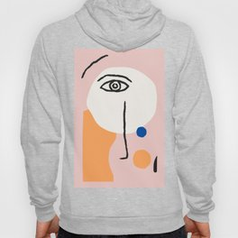 Abstract Art, Line Portrait, Matisse Picasso Style, Neutral Red Abstract Print, Line Drawing, Line D Hoody