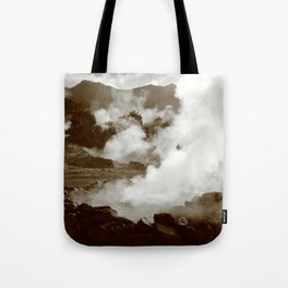 Sleeping volcano Tote Bag