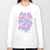 hawaiian Long Sleeve T-shirts featuring Hawaiian flowers by Marta Olga Klara