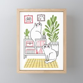 Cat Decor Framed Mini Art Print