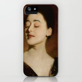 """John Singer Sargent """"Flora Priestley (also known as Lamplight Study)"""" iPhone Case"""