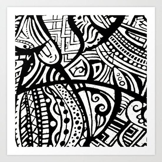 Abstractish 1  Art Print