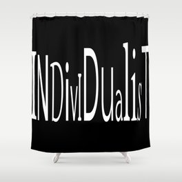 Individualist Shower Curtain