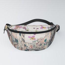 Venice Floral Sky Fanny Pack