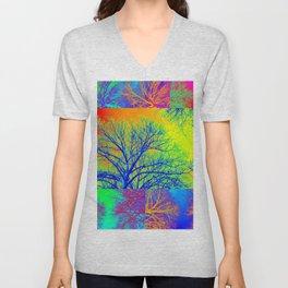 Rainbow Trees Unisex V-Neck