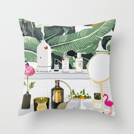 The Fragrance Cabinet Throw Pillow