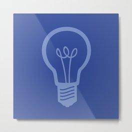 BlueLight Bulb Metal Print