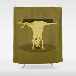 Monogram T Pony Shower Curtain