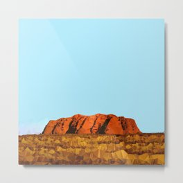 uluru polygon Metal Print
