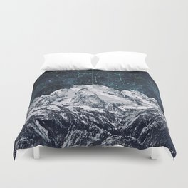 Constellations over the Mountain Duvet Cover