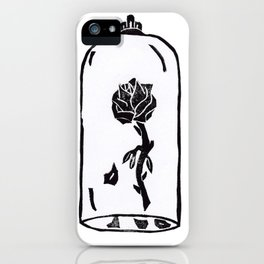 Rose under glass iPhone Case