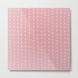 Pink Daisy Chain Metal Print