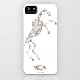 boxing horse skeletons iPhone Case