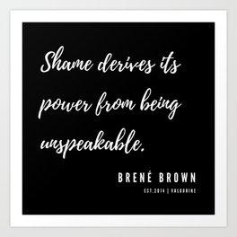 5  | Brené Brown Quotes | 190606 Art Print