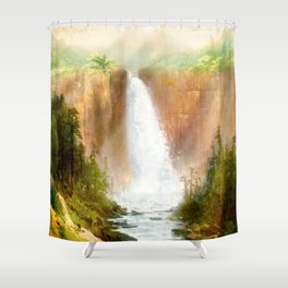 Beyond the Waterfall Shower Curtain