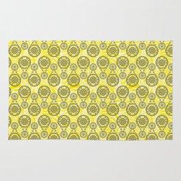 Mehndi Yellow Rug