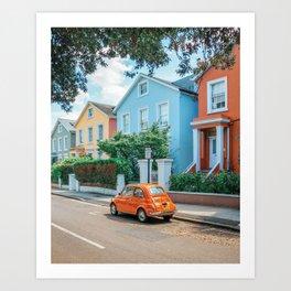 Retro London Art Print