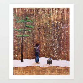 Someone Stole My Wood Art Print