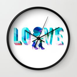 Head Over Heels In Love Wall Clock