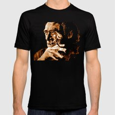 Charles Bukowski - quote - sepia Black Mens Fitted Tee X-LARGE