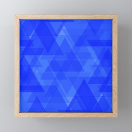 Gentle dark blue triangles in the intersection and overlay. Framed Mini Art Print
