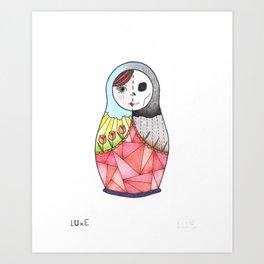 Life-And-Death Matriochka Art Print