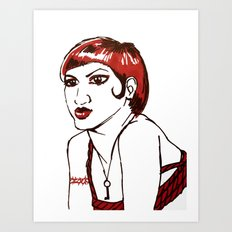 RED HEAD Art Print