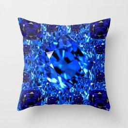 AWESOME SEPTEMBER BLUE  SAPPHIRES GEM BIRTHSTONE ART Throw Pillow