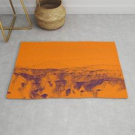 Enigmatic orange beach digital landscape photo painting   modern decoration art Rug