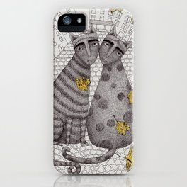 Two Cats Without Hats iPhone Case