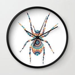 SPIDER SILHOUETTE WITH PATTERN Wall Clock