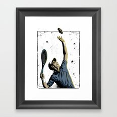 The Serve Framed Art Print