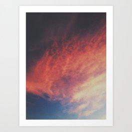 devilish skies Art Print