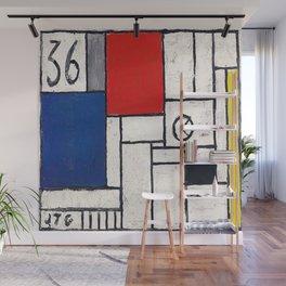 Joaquin Torres Garcia Constructive Clock Wall Mural