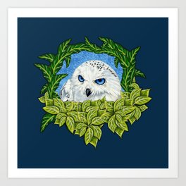 Mister Blue Eyes (Snowy Owl) Art Print