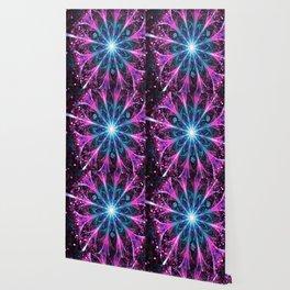 Winter violet glittered Snowflake or flower Background Wallpaper