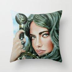 Warrior girl Throw Pillow