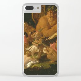Sir Joseph Noel Paton - Puck And Fairies  From A Midsummer Nights Dream Clear iPhone Case