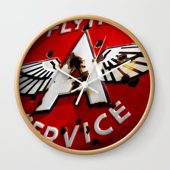 Flying A Service Wall Clock