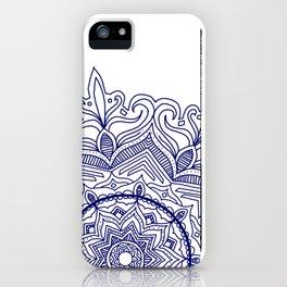 Blue Flower Mandala iPhone Case