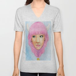 Bubblegum Queen Unisex V-Neck