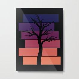 Tree Silhouette (Sunset) Metal Print