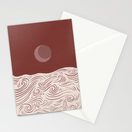 Abstraction landscape ocean moonrise moonset eclipse  Stationery Cards