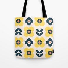 Vintage geometric flowers II Tote Bag