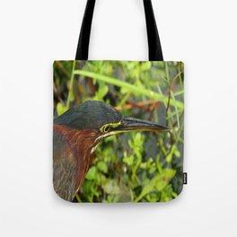 Green Heron Portrait Tote Bag