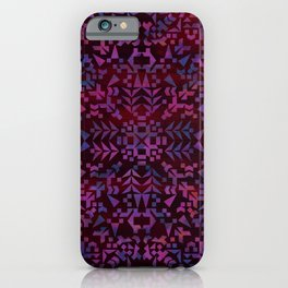 Makai Geometric Purple iPhone Case