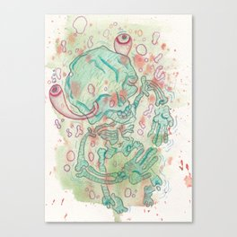Swimmin in Endocrine Canvas Print