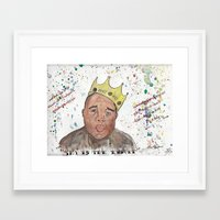 notorious Framed Art Prints featuring Notorious by Seïf Hajem